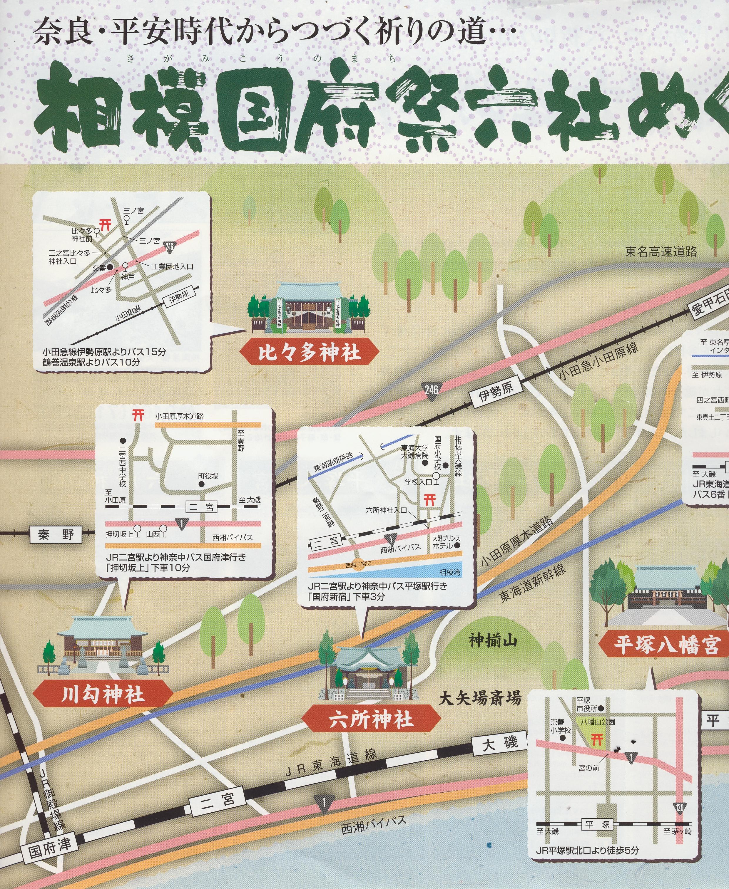 相模国府祭六社めぐり表1